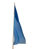 Blue flag. On the white background Stock Photos