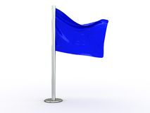 Blue flag Royalty Free Stock Photos