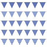 Blue flag collection with pattern isolated on white backgound royalty free illustration