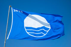 Blue flag Royalty Free Stock Image