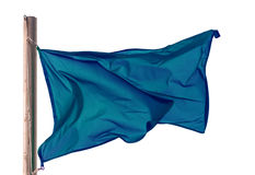 Blue flag. Isolated over white. Background Stock Photography