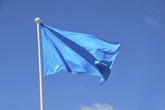 Blue flag waving Royalty Free Stock Photos
