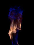 Blue flame. Shot of a fire and flames royalty free stock photo