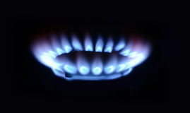 Blue flame Stock Image
