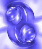 Blue flame. Digital illustration. Backgrounds Stock Image