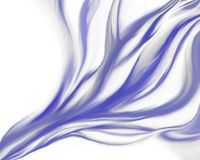 Blue flame abstract Stock Photography
