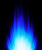 Blue flame background Stock Image