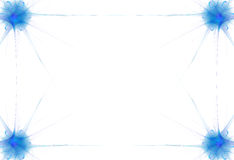 Blue Flame Border royalty free illustration