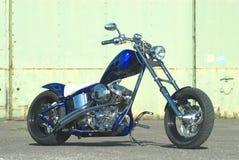 Blue Flame Chopper. Motorcycle custom Royalty Free Stock Photo