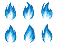 Blue flame energy Royalty Free Stock Photos