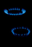 Blue flame of gas Stock Photos