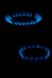 Blue flame of gas Royalty Free Stock Photos