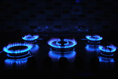 Blue flame Royalty Free Stock Photos