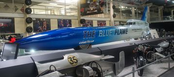 The blue flame -  Museum Sinsheim Stock Image
