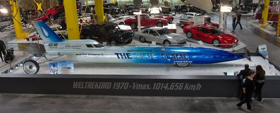 The blue flame  -  Museum Sinsheim Royalty Free Stock Images