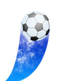 Blue flamed soccer Royalty Free Stock Photo