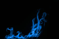 Blue flames Stock Image