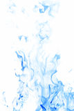 Blue flames. Blue inverted flames on a white background Stock Photography