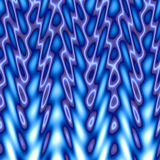 Blue Flames. Illustration.  Makes a great background texture Stock Photo
