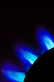 Blue flames. Blue gas flames Royalty Free Stock Image