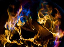 Blue Flames Stock Photography