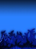 Blue flames background Stock Images