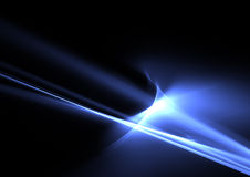 Blue flames on black Stock Photography