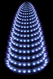 Blue flames of gas in the dark. (new year's fir tree Royalty Free Stock Photography