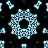 Blue flames kaleidoscope Stock Photography