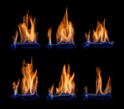 Blue flames Royalty Free Stock Photos