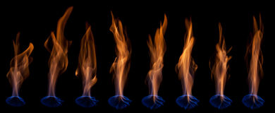 Blue flames Royalty Free Stock Photography