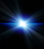 Blue flare. In black background Royalty Free Stock Images