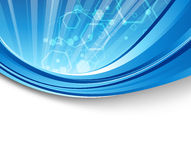 Blue flare - abstract elegant background. Clip-art Stock Photos