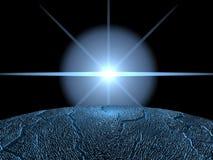 Blue flare Stock Image