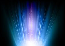 Blue flares Stock Photography