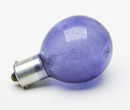 Blue flash bulb Royalty Free Stock Photo