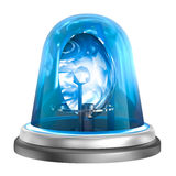 Blue flasher icon. Isolated on white. My own 3D design Royalty Free Stock Photos
