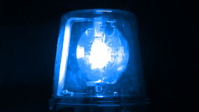 Blue Flashing Emergency Light