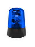 Blue flashing light. 3d render of blue flashing light on a white background Royalty Free Stock Photos