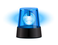Blue flashing light. Over a white background Royalty Free Stock Photography