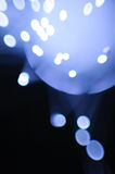 Blue flashing lights. Abstract blue flashing lights on a dark background Stock Image