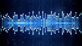 Blue flashing squares equalizer Royalty Free Stock Images