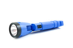 Blue flashlight Royalty Free Stock Images