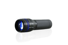 Blue Flashlight  on white background. Royalty Free Stock Images