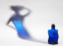Blue flask Stock Image