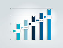 Blue Flat chart, graph. Simply color editable. Royalty Free Stock Image