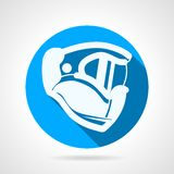 Blue flat vector icon for paintball helmet Stock Images