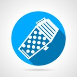 Blue flat vector icon for paintball hopper Royalty Free Stock Images