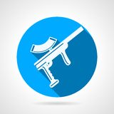Blue flat vector icon for paintball marker Stock Image