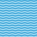 Blue flat wave pattern. Blue wave seamless pattern. Linear, flat design style. Background of simple waves. Sea textures concept. Vector illustration EPS 10 Stock Photos